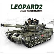 1747 шт Leopard 2 Основной боевой танк модель строительные блоки Совместимые Legoingly военный WW2 солдат армии Бикс игрушки для детей мальчиков