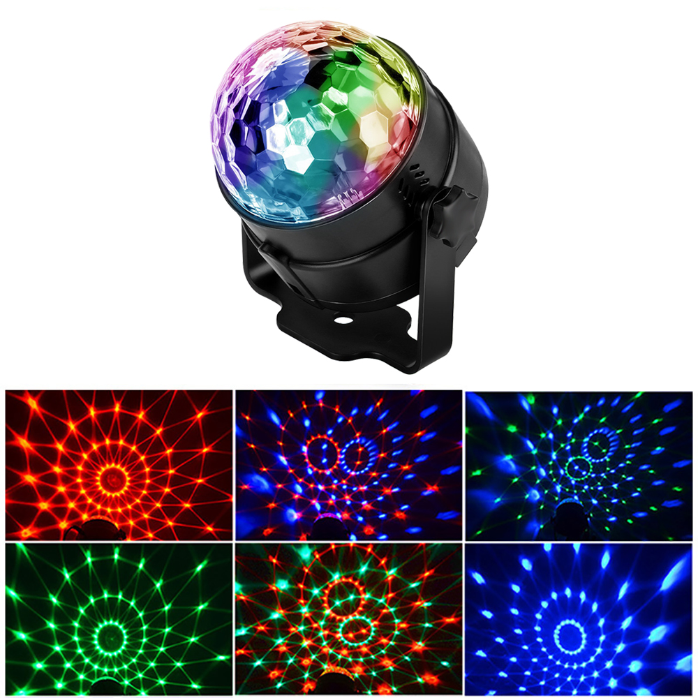 Sound Activated Led Stage Lights Disco Ball Mini Party Light RGB Laser Projector Effect Lamp Christmas Party Wedding Controller