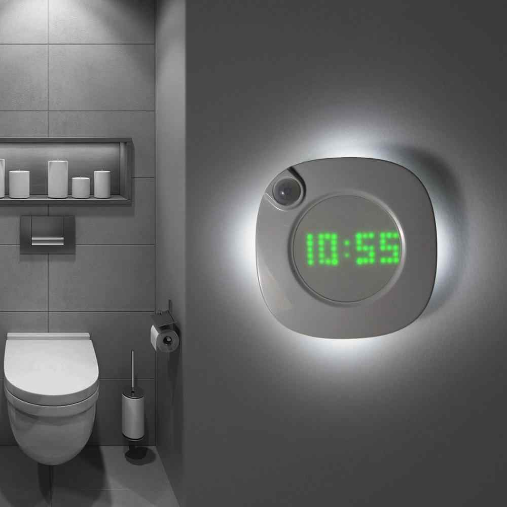 PIR Motion Sensor LED Wall lamp Magnet Indoor Night light With Time Clock For Bathroom Bedroom Corridor Decor Vanity Wall Light