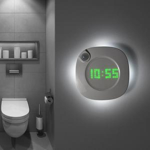 PIR Motion Sensor LED Wall lamp Magnet Indoor Night light With Time Clock For Bathroom Bedroom Corridor Decor Vanity Wall Light(China)