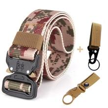 Trousers AWMN Belts Camouflage-Belt Long-Waist-Belt Climbing-Equipment Canvas Military