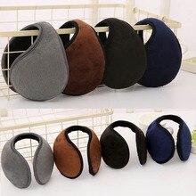 Unisex Solid Winter Earmuffs Women Men Ear Muff Soft Thicken Plush Ear Cover Protector Ear Warmer Earlap Apparel Accessories