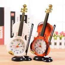 Mini-réveil pour violon, Simulation, Instrument Musical créatif, horloge de bureau, décor de maison et de bureau, cadeau