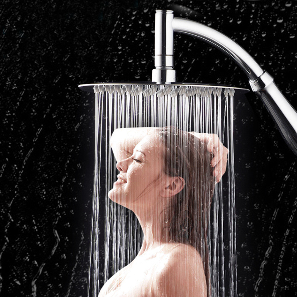6 Inch 360 ° Rotating Large Shower Head Shower Head Water Saving Handheld Large High Pressure Bathroom Shower Spa Shower Head
