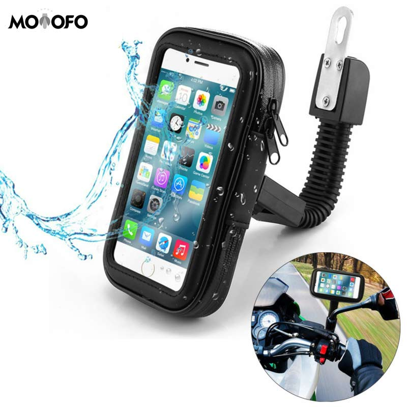 Waterproof Motorcycle Motorbike Phone Holder Cell Phone Mount Bracket For Scooter Rearview Mirror Stand For IPhone Xiaomi