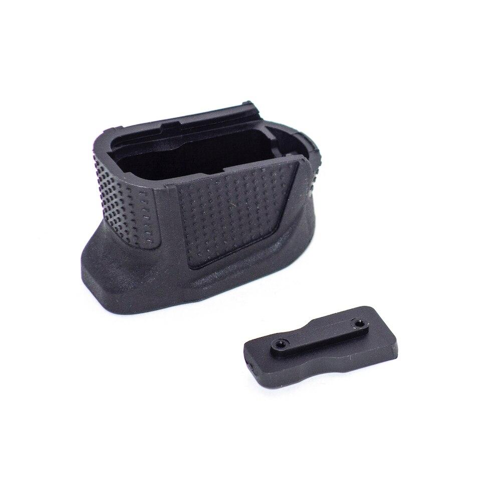 Glock 43 более Журнал Расширение базы накладка пластина для 9 мм 6rd пистолет плюс 2-круглый G43 Mag Сцепление Заглушка рамы в американском стиле