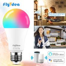 لمبة ذكية ملونة, لمبة ذكية ملونة 15 واط إضاءة واي فاي LED مصباح E27 اللون متغير مصباح RGB ماجيك لمبة 110 فولت 220 فولت APP مصباح يعمل مع مساعد جوجل أليكسا