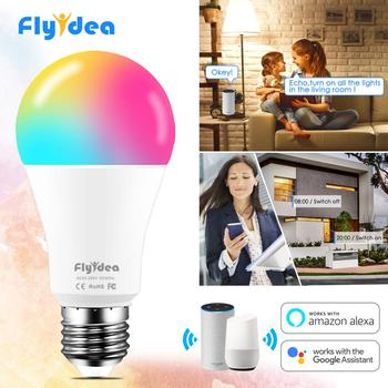 15W Smart Light Bulb Dimmable WiFi LED Lamp E27 Color Changing Lamp RGB Magic Bulb 110V 220V APP Operate Alexa Google Assistant