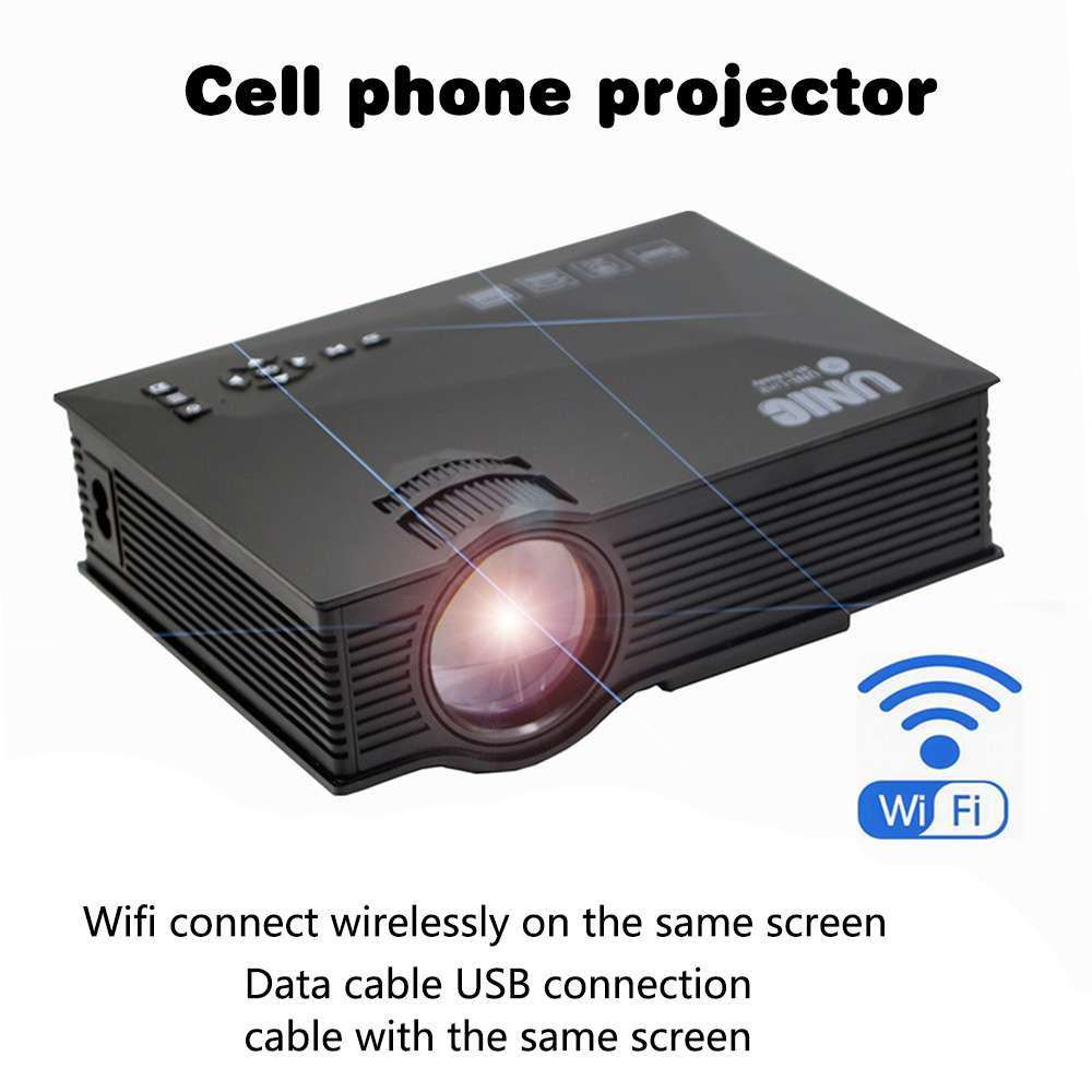 Portable LED Projector Original UNIC UC68 UC68H 1800 Lumens 80 110 ANSI HD 1080p Full HD Video Projector Beamer For Home Cinema