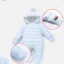 2020 комбинезон для новорожденных с капюшоном и бархатным утеплителем;
