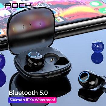 Modelo actualizado auriculares TWS Bluetooth V5.0 estilo de negocios estéreo impermeable HiFi sonido de graves profundos con micrófono para teléfono Universal