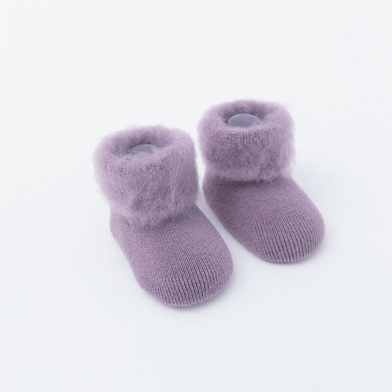 PPXX New Winter Thick Children Baby Cartoon Socks Infant Girl Cotton Soft Warm Antislip New Born Baby Socks Fur Gift 2