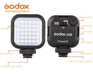 Image 4 - Godox led36 luz de vídeo 36 led luzes da foto ao ar livre lâmpada 5500 ~ 6500 k para canon eos 70d 6d dslr câmera filmadora dvr acessórios