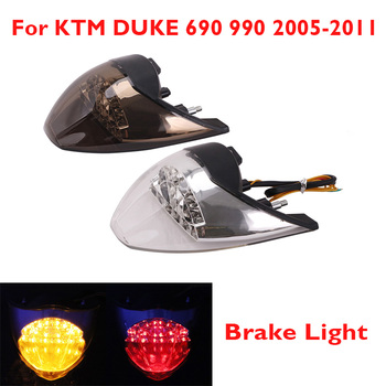 Motorcycle LED Taillight Rear Moto Stop Brake Light Tail Light Turn Signal Indicators for KTM DUKE 690 990 2005-2011