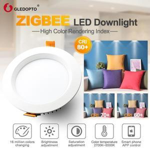 Image 2 - ZIGBEE home 6 W/9 W/12 W LED Downlight ทำงานกับ Amazon plus SmartThings rgb cct light AC100 240V dual สีขาว