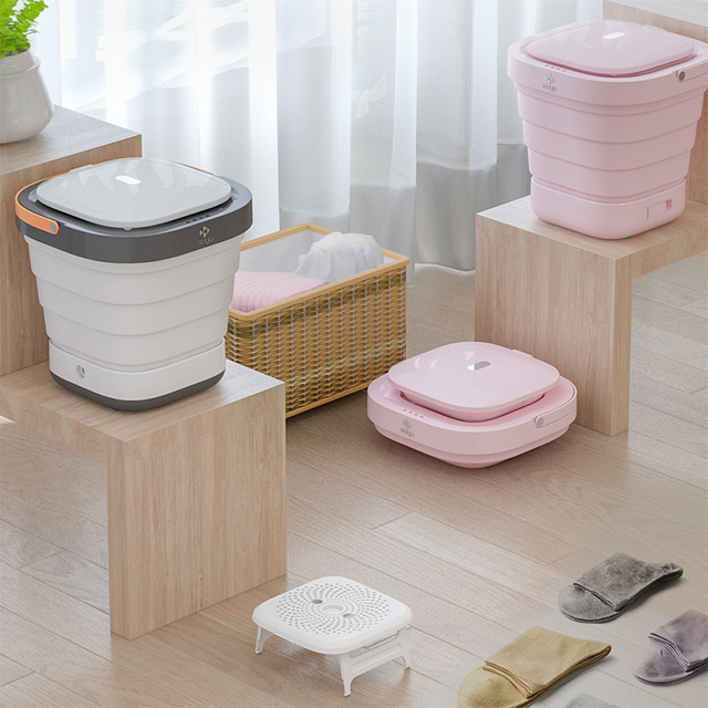 2 In 1 Portable Folding Washing Machine With Dryer Drying 3 Modes Disinfecting UV Sterilization Washer Machine for Travel Home