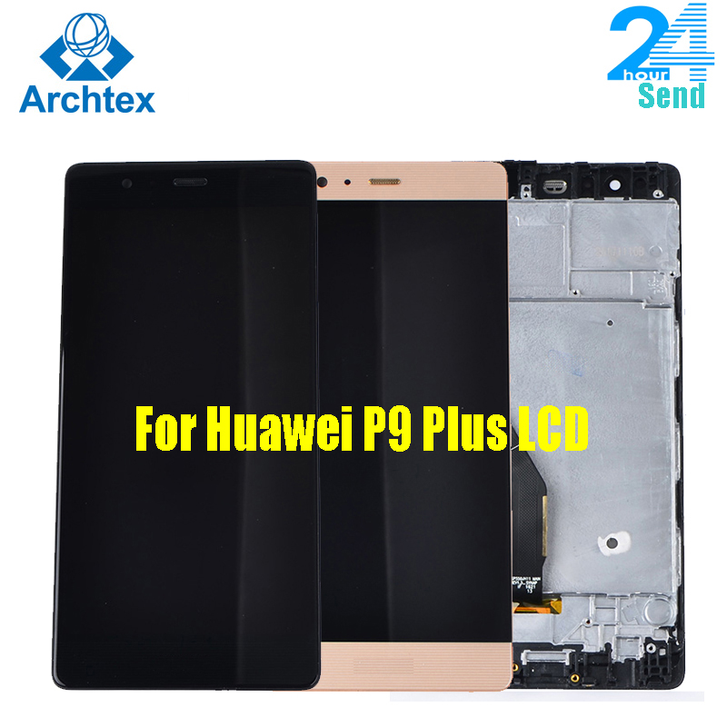 For  Huawei P9 Plus LCD Display And Touch Screen Digitizer Assembly With Frame For Huawei P9 Plus1920X1080 5.5inch Stock