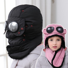 YUZOE Goggles Winter Hat with Ear Flaps Unisex Outdoor Ski Hats