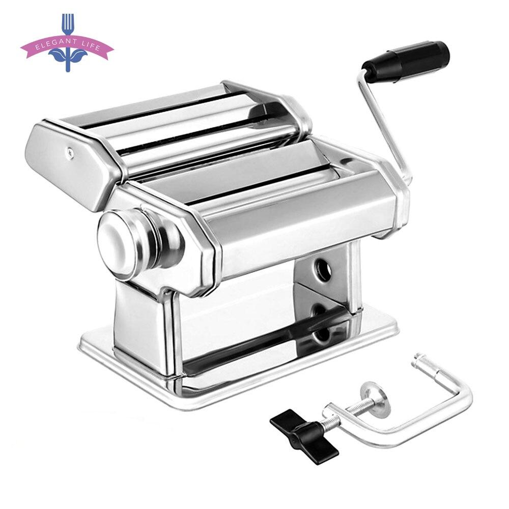 Noodle Maker Maschine Manuelle Pasta Maker Nudel Presse Cutter Maschine 7 Dicke Einstellungen Frische Makkaroni Lasagne Nudel Rolle DIY