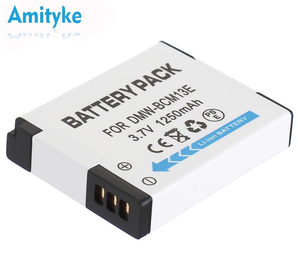 Amityke 1 piece Rechargeable Lithium-ion <font><b>Battery</b></font> For Panasonic DMW-BCM13 DMW-BCM13E DMW-BCM13PP 3.7V <font><b>1250</b></font> mAh Camera <font><b>battery</b></font> image