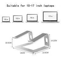 Portable Aluminum Laptop Stand Holder Ergonomic Elevator Metal Riser for 10 17 Inch Mac MacBook Pro Air Apple Notebook PC Deskto