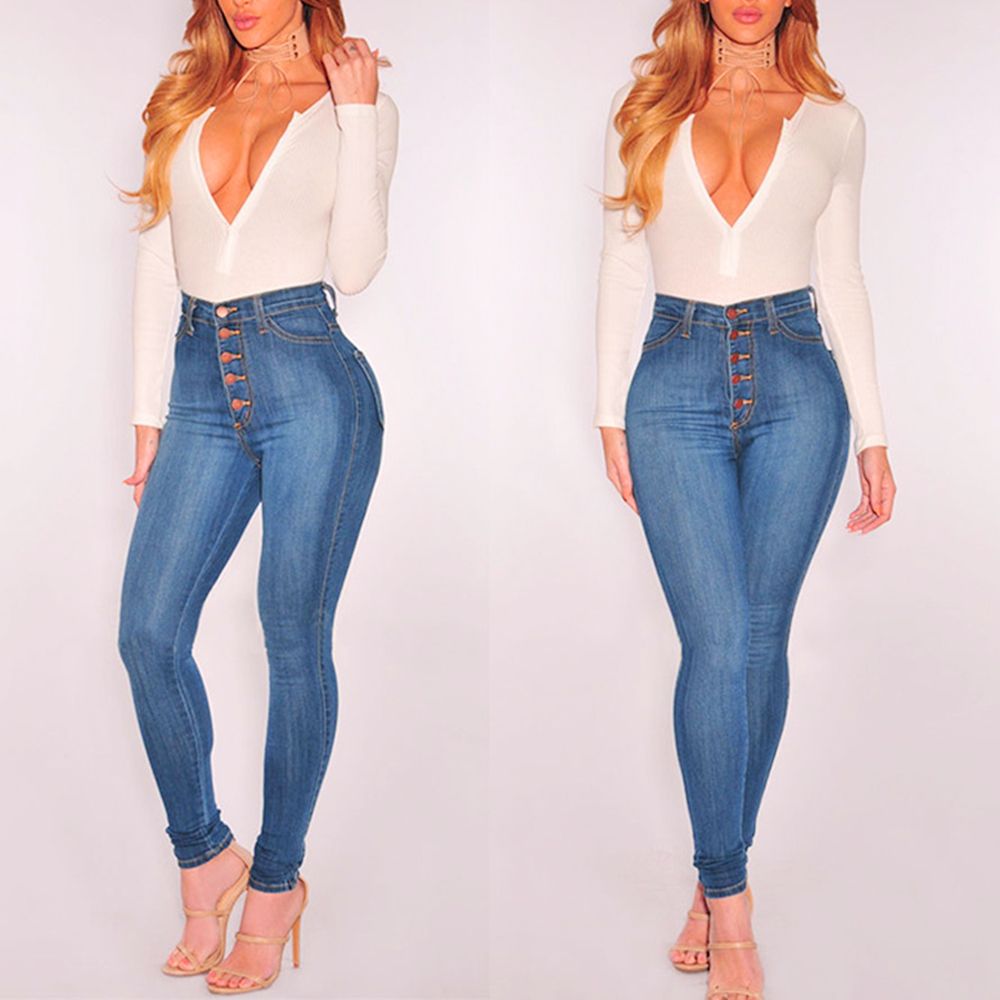 H3fe7be48869a4aff970920c1f307704dr Summer Solid Skinny Jeans Woman Casual Pencil High Waist Jeans Tassel Drawstring Slim Jean Femme Stretch Demin Ladies Jeans