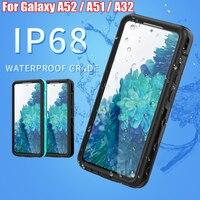 Funda impermeable IP68 para Samsung Galaxy A51, A52, A32, 5G, para buceo, natación, correr, deportes al aire libre, anticaída, armadura de TPU