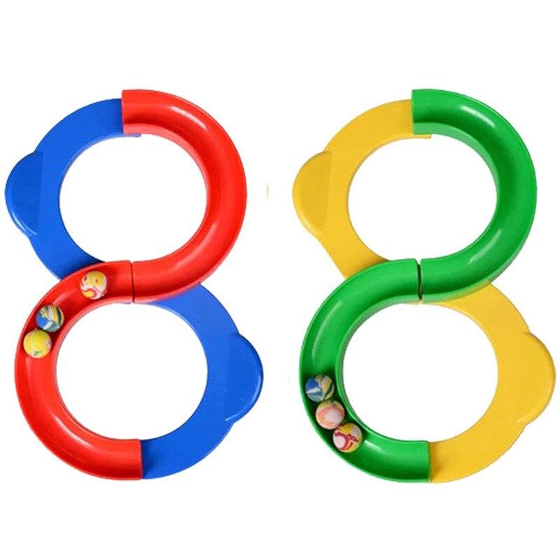 Enfants enfants 88 forme boucle infinie piste exercice Attention formation jouets 88 piste balle intégration sensorielle jouets balles