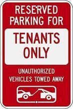 Joyzione – grand signe en aluminium, affiche en métal, Vintage rétro Wa, pour les passionnés de Parking et les véhicules remorqués