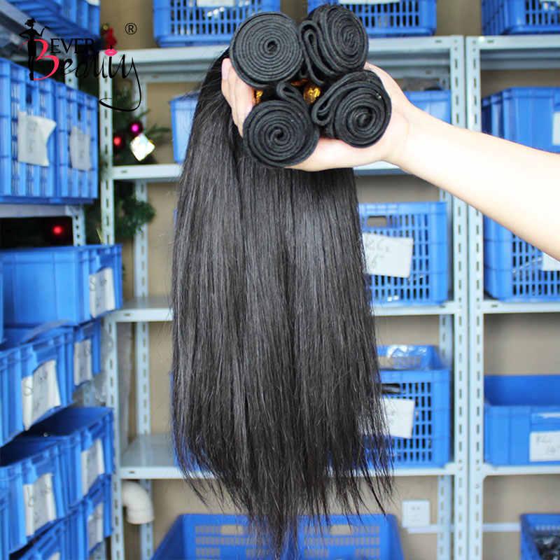 Düz brezilyalı saç örgü demetleri insan saç demetleri ile kapatma saç uzatma hiç güzellik doğal siyah bakire
