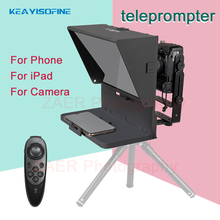 Q2 Portable Teleprompter for Tablet Phone DSLR Camera Teleprompter For Video Recording Live Broadcast With Remote Control
