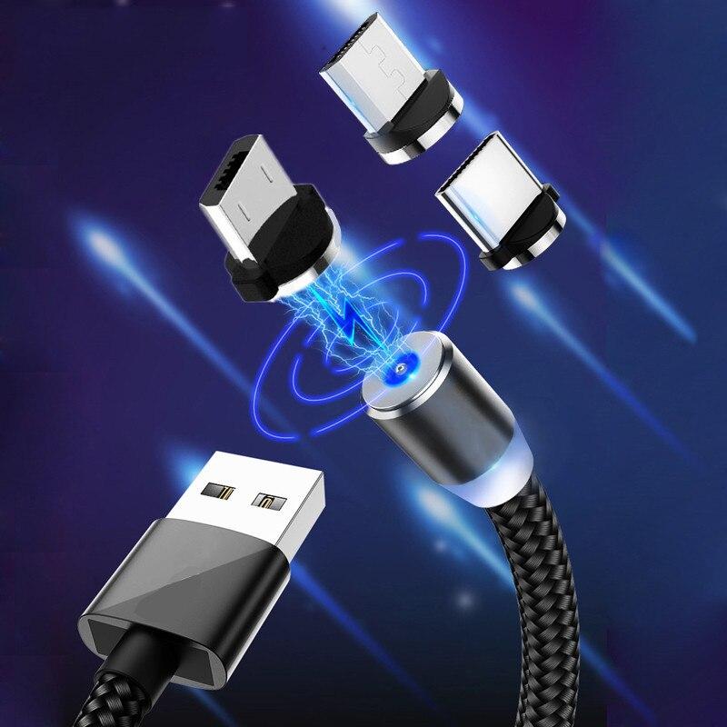 Para samsung galax a71 j7 a5 a7 a10 a50 9c honra 20 30 xiaomi 10 micro usb carregador fios redmi 7a 8a tipo magnético c cabo de carga
