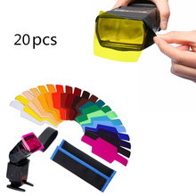 20 adet flaş Speedlite renk jeller filtreler Canon kamera için fotoğraf jeller filtre flaş Speedlite Speedlight