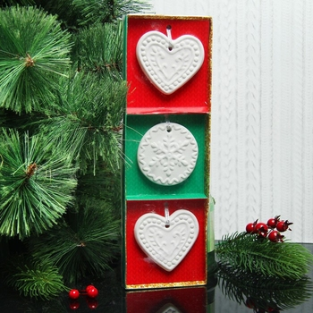 Set of Christmas pendants for coloring 3 PCs