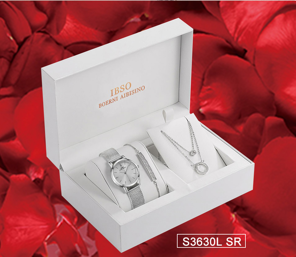 Ensemble bijoux Femme montre cristal Design Bracelet collier 14