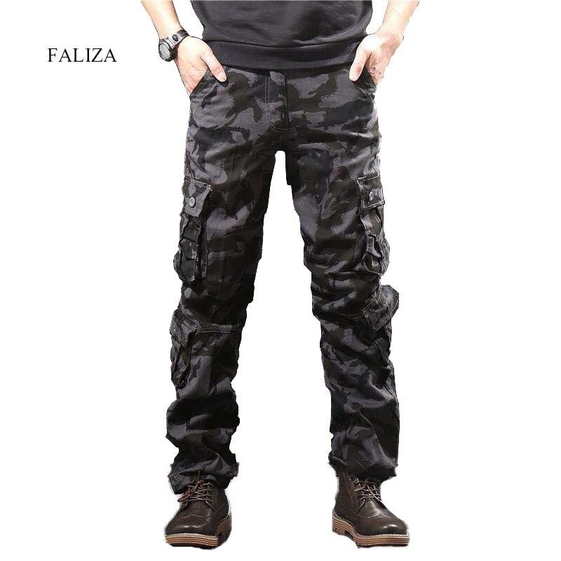 Камуфляжные мужские брюки-карго, мужские повседневные камуфляжные брюки с несколькими карманами, военные тактические брюки в стиле хип-хоп...