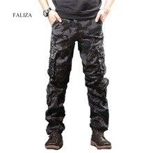 ลวงตาผู้ชายกางเกงCargoผู้ชายCasual Camoหลายกระเป๋าทหารยุทธวิธีกางเกงHip Hop Joggers Streetwear Pantalon Homme