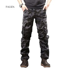 Kamuflaj erkek kargo pantolon erkekler rahat Camo çok cepler askeri taktik pantolon Hip Hop Joggers Streetwear Pantalon Homme