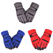 Hot! Winter Men Gloves Thicken Cycling Ski Outdoor Sports Warm Windproof Honeycomb Fabric Polyester Nylon
