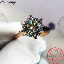Choucong Solitaire แหวน 8 มม.Sona cz (China)