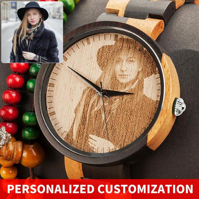 Personality Engraving Customize Watch Men BOBO BIRD Customers Photos Customization Wooden Watches Gift for Him  fo reloj mujer