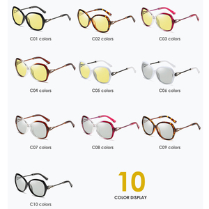 Image 3 - VCKA 特大女性デイナイトビジョンサングラス偏光フォトクロミック変色レンズアンチグレア黄色ゴーグル