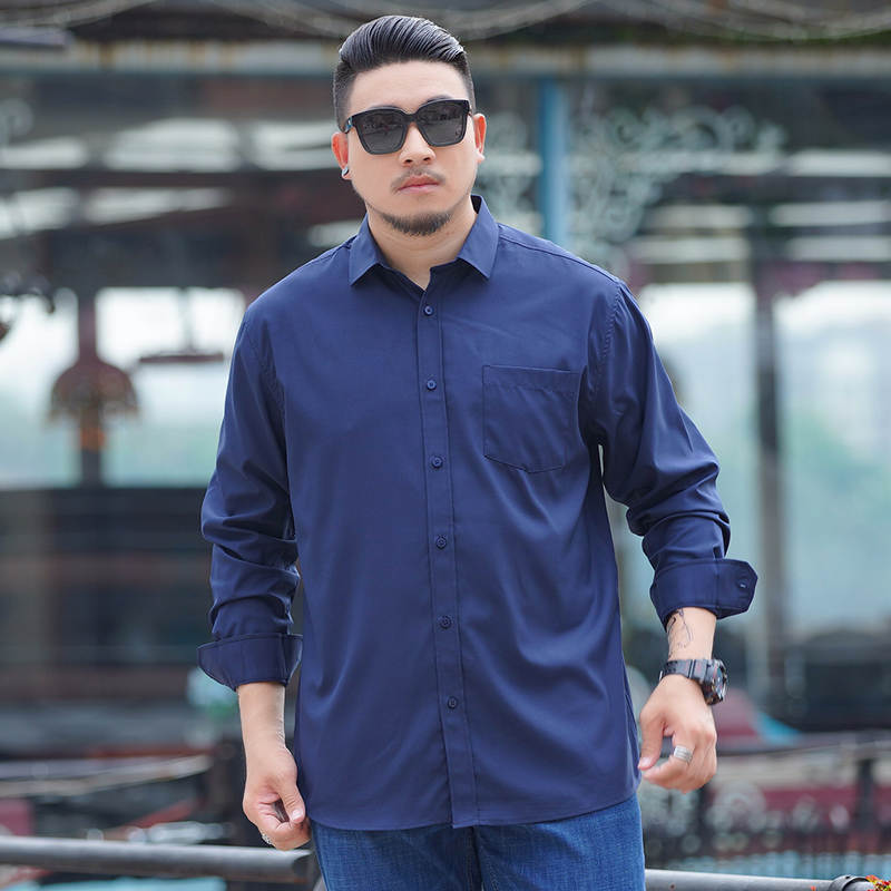 10XL9XL Plus Size Spring Long Sleeve Formal Shirts For Men Solid Basic Turn-down Collar Business Dress Shirts Camisas Masculina