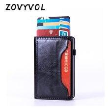 Zovyvol 2021 caso titular do cartão de visita rfid alumínio carteira cartão moda nova plutônio titular do cartão de crédito porte carte cartão de segurança caso