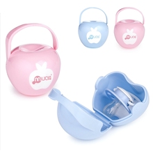 Portable Baby Infant Pacifier Nipple Travel Case Little Apple Shape Storage Box