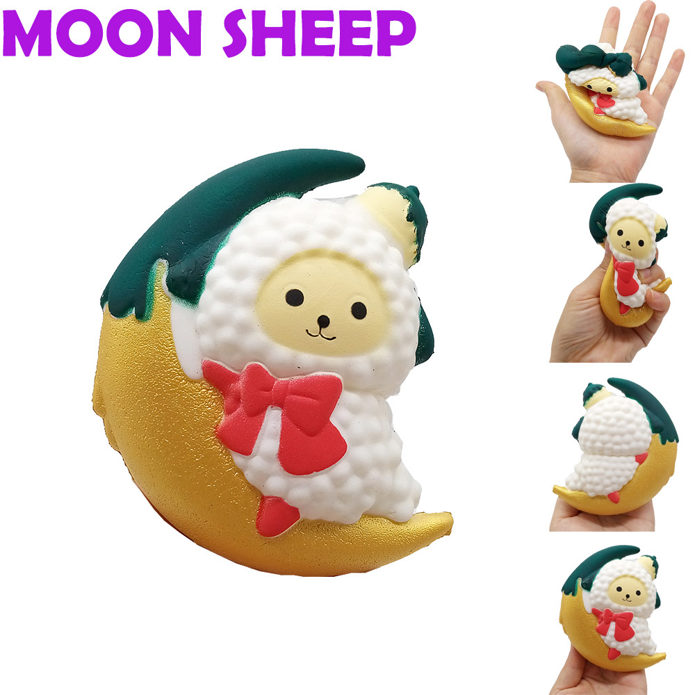 Relax Toys Amusing Squishy Squishies Soft Cute Cartoon Moon Sheep Stress Reliever Soft Yogurt Scented Slow Rising Toys New