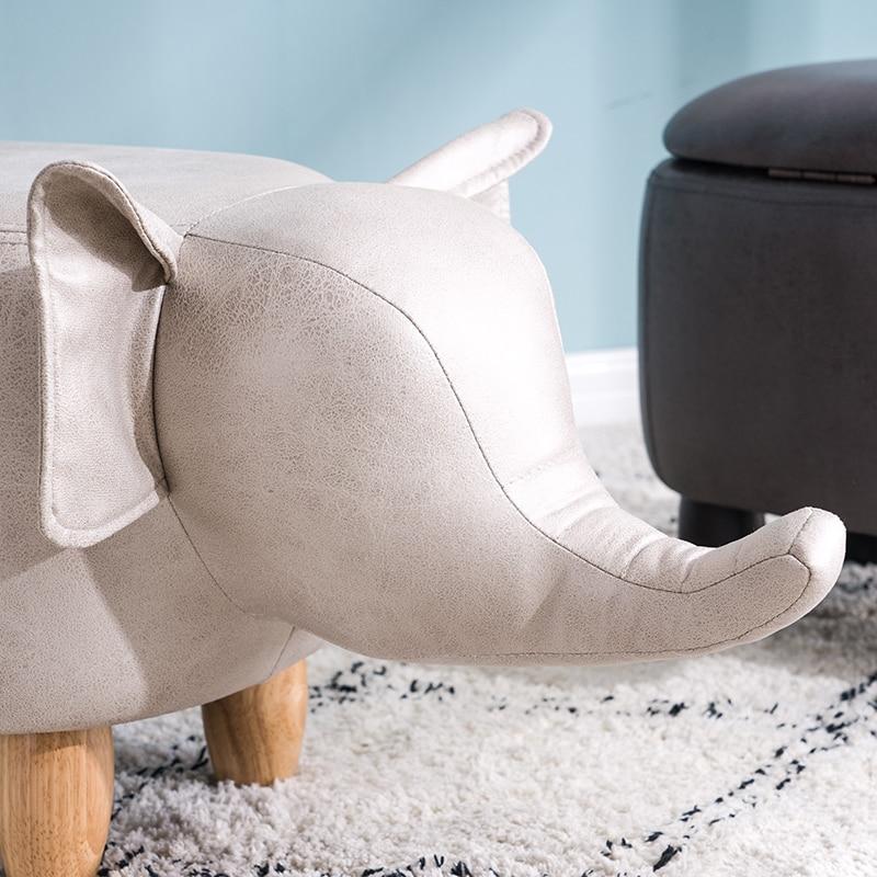 Children's Stool Small Elephant Stool Storage Stool Cartoon Animal Stool Nordic Storage Foot Stool 5