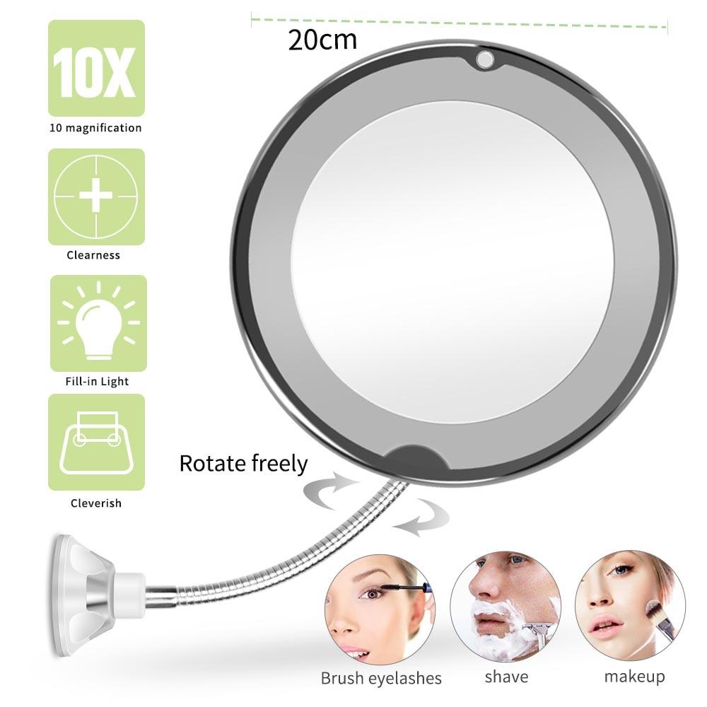 LED Mirror Makeup Mirror With LED Light Vanity Mirror Light 10X 7x Magnifying Compact Mirror LED Espelho VIP DROPSHIPPING