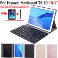 Bluetooth Keyboard Case for Huawei Mediapad T5 10 10.1 AGS2-L09 AGS2-W09 AGS2-L03 Case Cover English Spanish Russian Keyboard