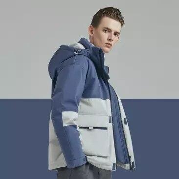 Оригинальный мужской пуховик xiaomi с капюшоном, 90 точек, 90% белый пуховик, 4 Водонепроницаемая зимняя куртка smart - 4
